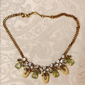 J Crew rhinestone/stone necklace